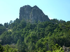 Le Castellucciu depuis la fin du ravin du Finicione