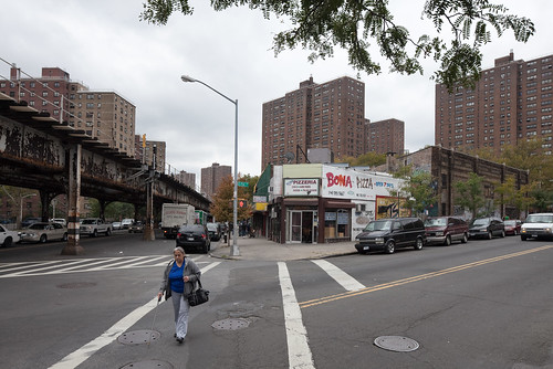 Woman Walking, Bona Pizza, Public Housing