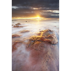 Is there life on Mars? (Stuart Stevenson) Tags: longexposure morning light sea mars seascape colour reflection water sunrise coast scotland rocks fife tide wideangle erosion northsea redrocks seashore firthofforth crail beautifulmorning eastneuk canon5dmkii stuartstevenson