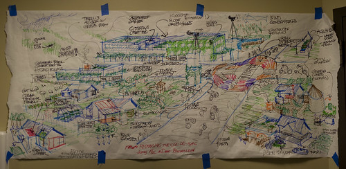 "Amazing drawing from ""Re-Imagining The Cul-De-Sac"" presentation with Jenny Pell & Dave Boehlein"
