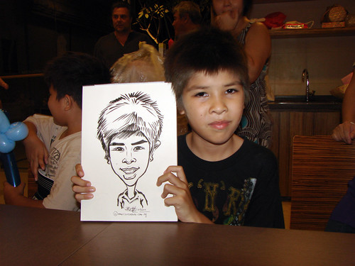 Caricature live sketching for birthday party 11092010 - 12