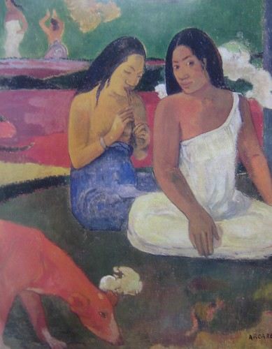 Arearea (Joyousness) (detail), Paul Gauguin, 1892, Musée d'Orsay, De Young Museum, San Francisco