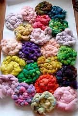 hand dyed fiber