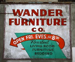 wander furniture co (Studiobaker) Tags: street blue winter orange lake snow cold building green classic minnesota st wall vintage evening living mural skies open jan furniture room ghost january minneapolis mpls faded age ave damage co americana fade arrow aged friday damaged avenue 2008 mn brilliant stucco wander eves evenings bedding minnehaha fri flexsteel studiobaker telke