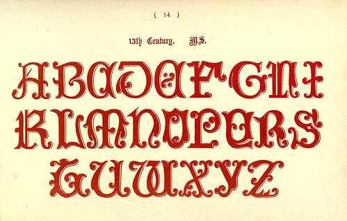 014- Siglo XIII- The book of ornamental alphabets, ancient and mediaeval..1914-F. Delamotte