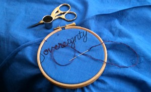 Embroidered word: Sovereignty