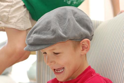 huck finn cap gray hat