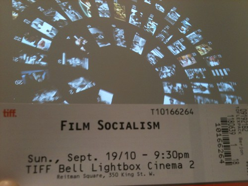 "Ticket of ""Fim Socialisme"", A Screening at TIFF 2010"