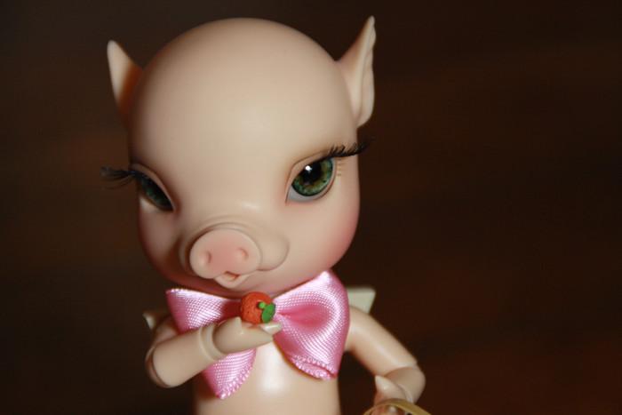 NOUVELLES PHOTOS de Sacha en bas de P1 (BJB cochon Elf Doll) 5009775864_e34262afda_b