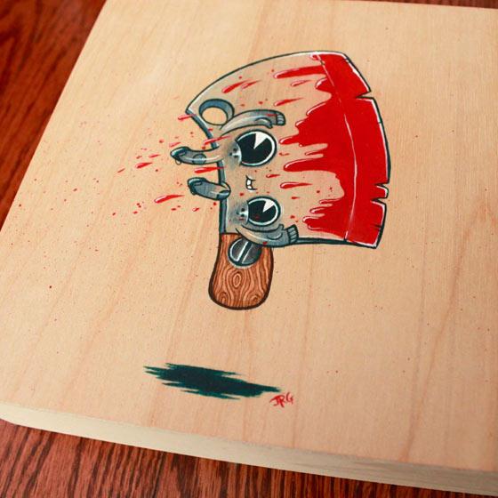 pinturas hechas en madera