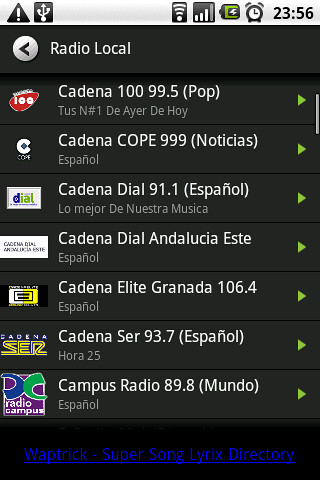 radio en android por internet