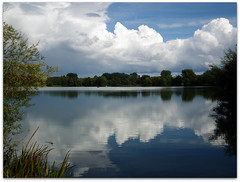 Calm after the storm! (macfudge1UK) Tags: uk autumn england sky lake storm reflection nature water clouds interestingness europe dragonfly wildlife scenic calm lakeside explore oxfordshire cloudscapes 2010 oxon stantonharcourt allrightsreserved hs10 countryfile scenicsnotjustlandscapes naturethroughthelens thenaturesgreenpeace fujifilmfinepixhs10 fujihs10