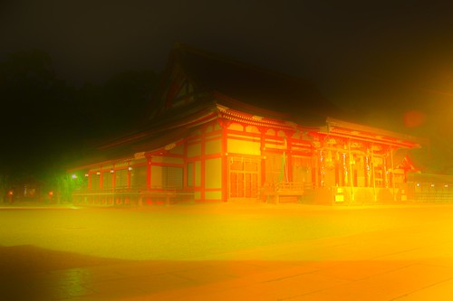 Yasaka Shrine (glowing surreal)