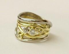 Nemo style diamond ring
