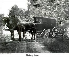 Horse and Carriage, Dublin New Hampshire (Keene and Cheshire County (NH) Historical Photos) Tags: horses horseteam horseandcarriage horseandbuggy dublinnh dublinnewhampshire flynets maryerobbe bakeryteam