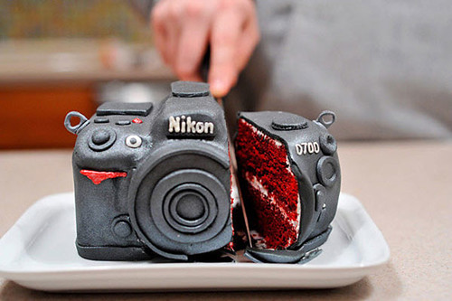 New inspiration: Nikon D700 Camera Cake. Photographers, This One's For You !