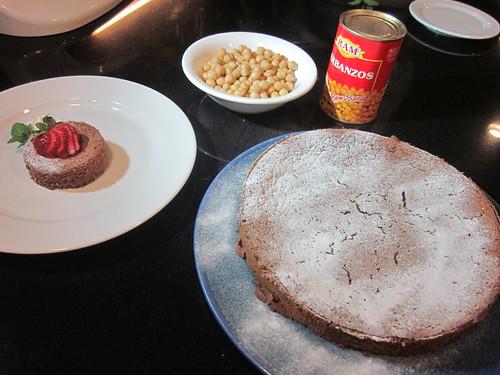 U.S. Chocolate and Chickpea Cake made with Garbanzos
