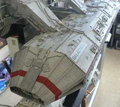 MASSIVE DETAIL. OVER 6 FOOT LONG. (suki5150) Tags: battlestargalactica galactica scifi boomer starbuck apollo adama colonialviper viper pegasus caprica cylon cylonraider battlestar mastermodellermarcelkins chrisrogerson seaview flyingsub angelinterceptor captain scarlet tardis terrahawks joe90 space1999 thunderbirds stingray