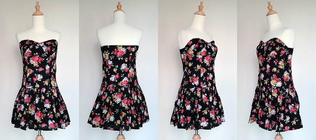 Sweetheart Rose Prints Dress