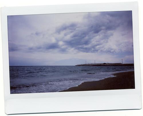 Playa tormentosa