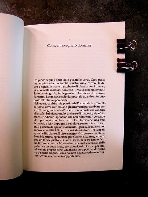 Delia Vaccarello, Evviva la neve, Mondadori Strade Blu 2010, Art Director Giacomo Callo, Progetto Grafico Susanna Tosatti, incipit, [p. 3] (part.), 1
