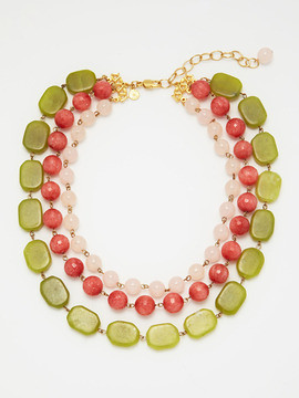 David Aubrey necklace green-pink
