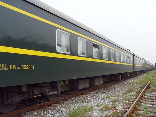 Charter Train in China - exterior
