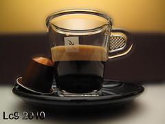 Nespresso (Meshari Meshaal) Tags: black espresso kuwait coffe 2010 nespresso تصوير الكويت أبيض اسود قهوة أسود لذيذه بني مشاري ابيض meshari بيتي ادعم أدعم kvwc مركزالعملالتطوعي lc9 360mall mesharilc9