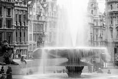 Trafalgare Square (beppophoto) Tags: bw london canon square noiretblanc trafalgar fontana bianconero beppophoto