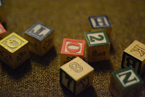Children's Blocks - Nikon D3100 @ ISO 6400