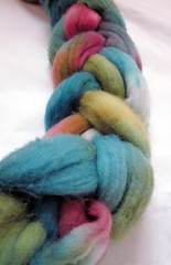 Rainbow Cotton Candy roving