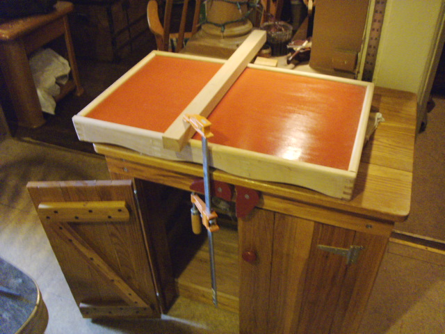 Clamped to Prayer Desk for Shaping