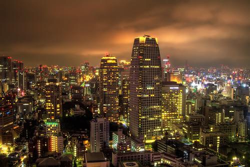 [フリー画像] 建築・建造物, 都市・街, 夜景, 日本, 東京都, 201010021900