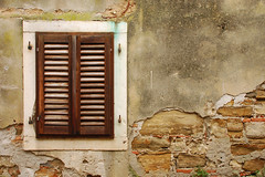 Closed window (Thomas Roland) Tags: city sea window wall by town slovenia piran slovenija mur adriatic slovenien adriaterhavet vidue