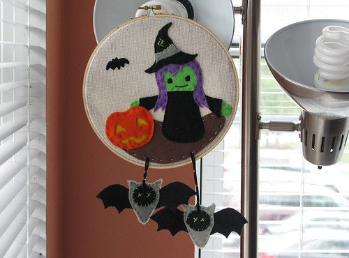 Witch Felt Embroidery