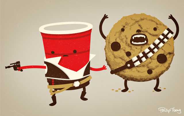 Han Solo Cup & Chewbacca the Cookie