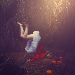 a delivery deterred (brookeshaden) Tags: trip sunset fall woods basket pumpkins explore littleredridinghood apples frontpage selfie stumble brookeshaden