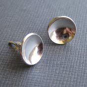 Shiny Silver Post Earrings