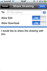 AutoCAD WS Share Drawing