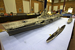 INTREPID COMPLETE (On show) (Lego Monster) Tags: ship lego aircraftcarrier usnavy carrier worldwar2 essexclass