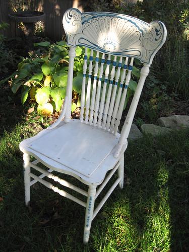 White Chair-Needs Refinishing