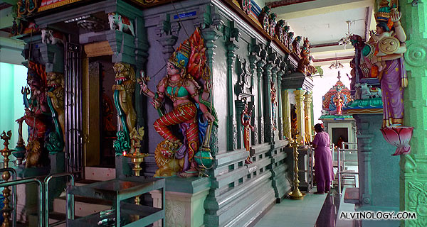 Colourful Indian deities
