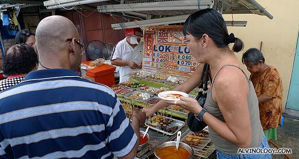 Roadside Lok Lok food stall