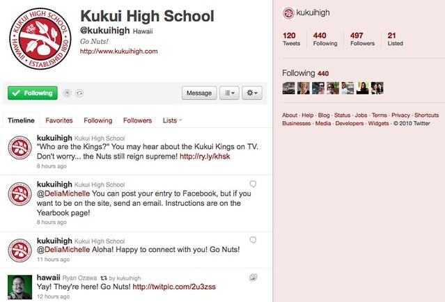 Kukui High on Twitter