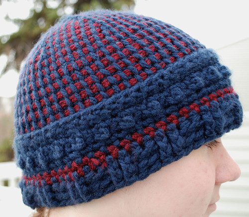Bottom Up Tunisian hat