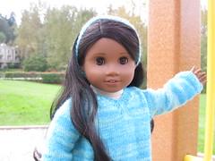Hello (Nethilia) Tags: sonali socks sweater knitting americangirl