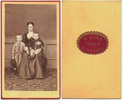 Mother With Sons (josefnovak33) Tags: old woman man de child photograph cdv 1860s visite carte
