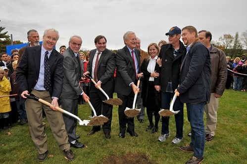 Ground Breaking Ceremony at Pat Burns Arena contstruction site