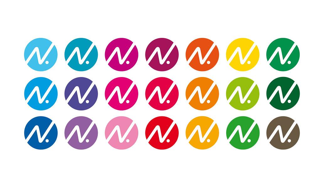 Logo i 21 olika färger