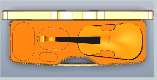 Calder violin new w 3 pockets grab